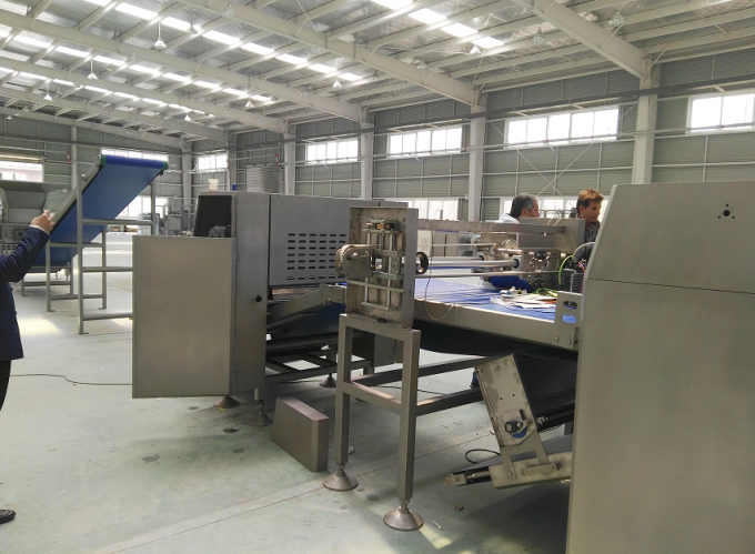 Industrial Puff Pastry Machine Siemens PLC controlled with Dough Spool Make-up Line