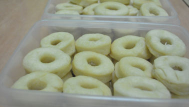 Semi Finished Frozen Donut Production Line With Product Sandblasting European Standard