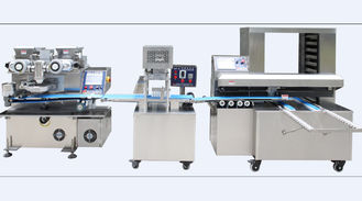 Mooncake Filled Encrusting Machine , High Automation Cookies Production Line