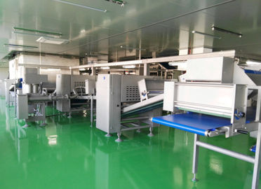 China good quality -40℃ Auto Freezing Tunnel Pastry Dough Laminator Machine For Croissant  and sasuage roll on sales