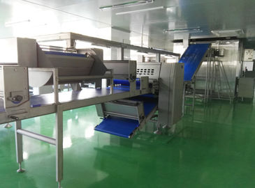 China Auto Freezing Croissant Production Line with 8 Nozzles Depositor For Filled Croissant factory