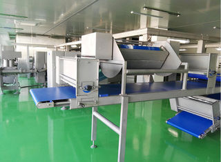 Siemens PLC Dough Laminator Machine Maximal 144 Layers For Puff Pastry Dough