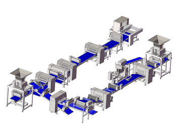 ZKS900 Dough Sheet Dough Laminating Machine , Danish Pastry Laminating Line for Pastry bread,croissant and Puff